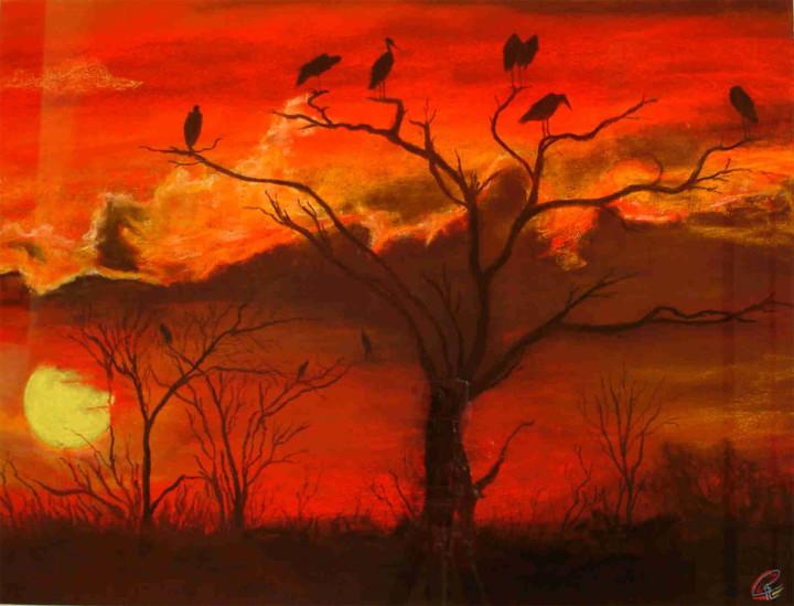 Rouge d'ibis - 50x65