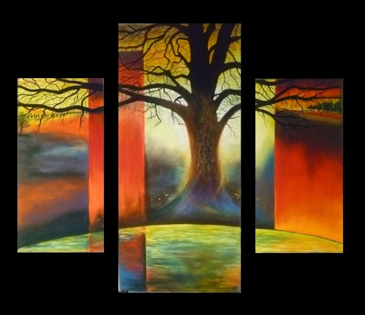 Silence triptyque - 128x110
